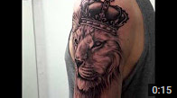 Lion and Crown Tattoo ZindyInk